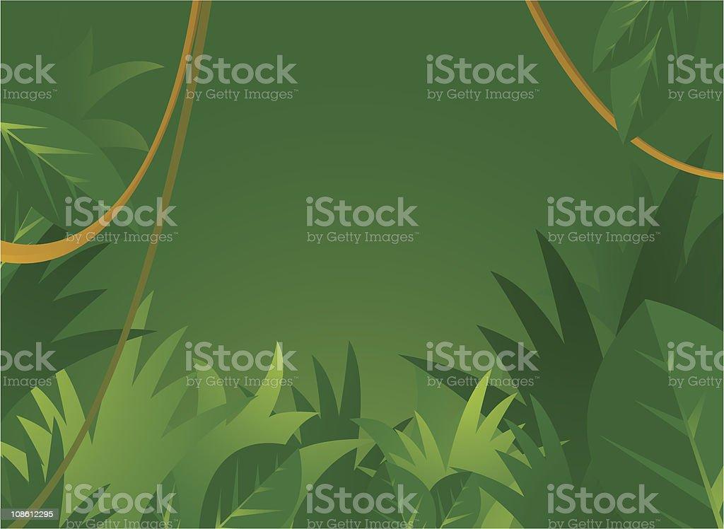 Jungle fundo com copyspace - ilustração de arte em vetor
