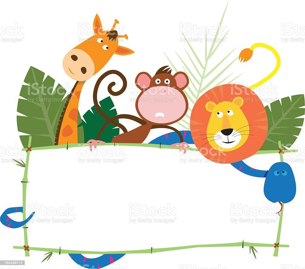 Jungle Banner vector art illustration