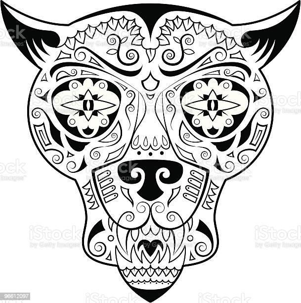 Jungle Cat Skull-vektorgrafik och fler bilder på Design