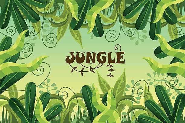 Royalty Free Jungle Vines Clip Art, Vector Images ...