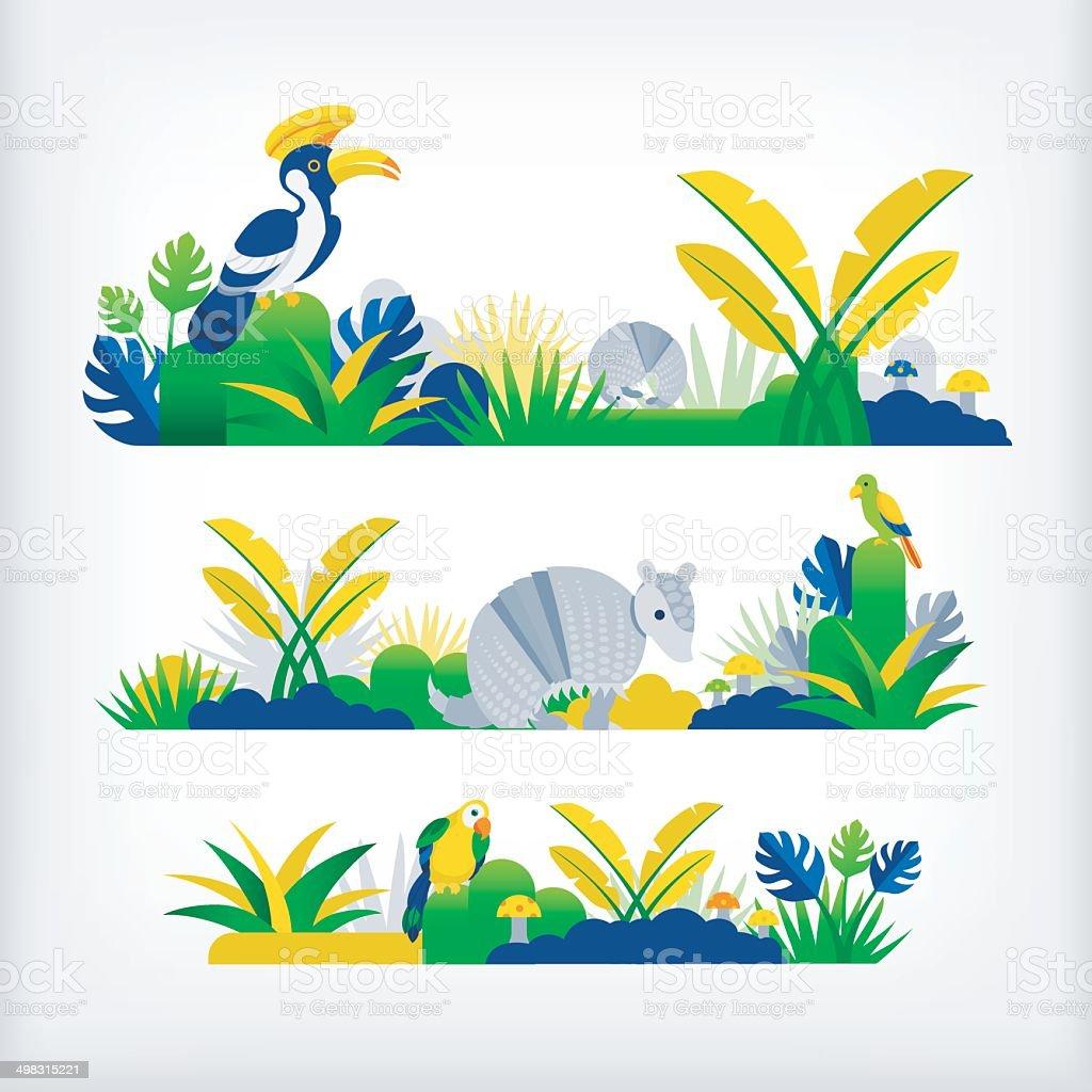 jungle in brazil vector art illustration