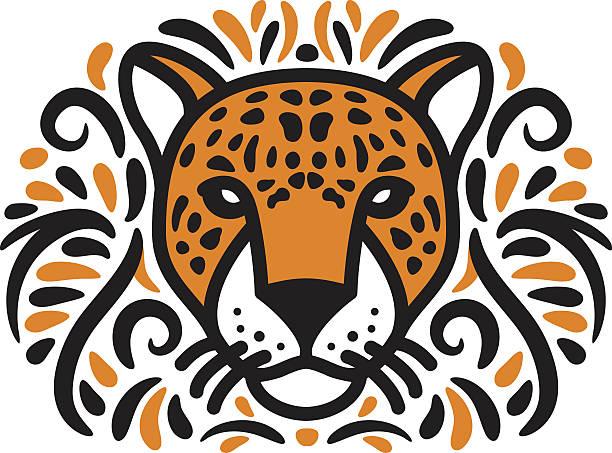 jungle jaguar - jaguar stock illustrations