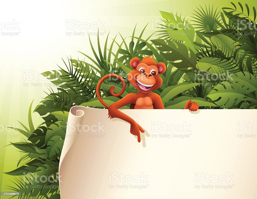 Jungle Message royalty-free stock vector art