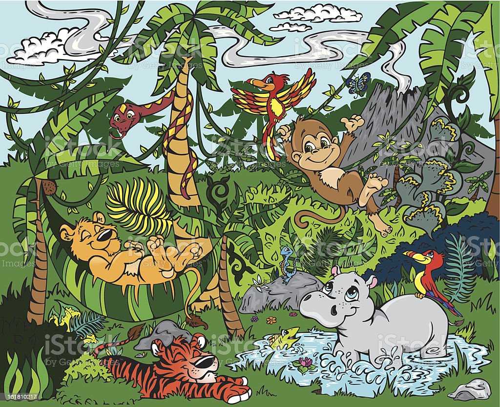Jungle Paradise royalty-free stock vector art