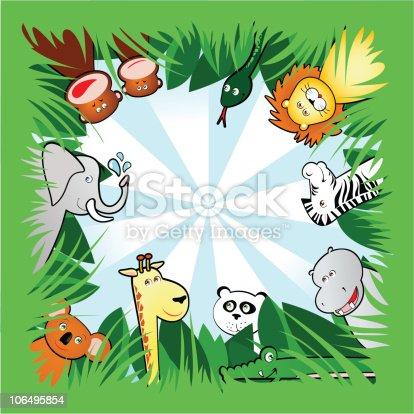 istock Jungle square background 106495854