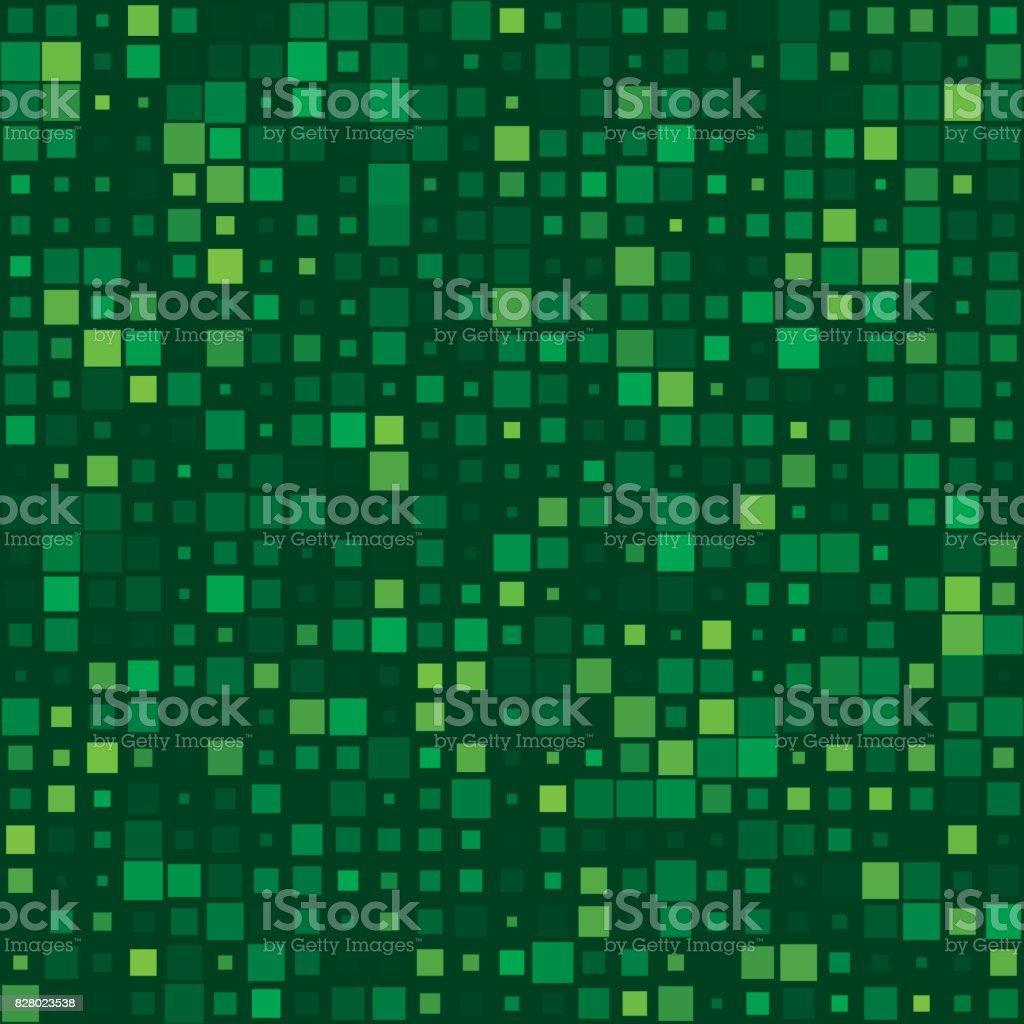 Jungle Square Variation Pattern vector art illustration