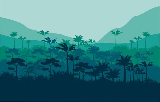 jungle wild nature green color scene