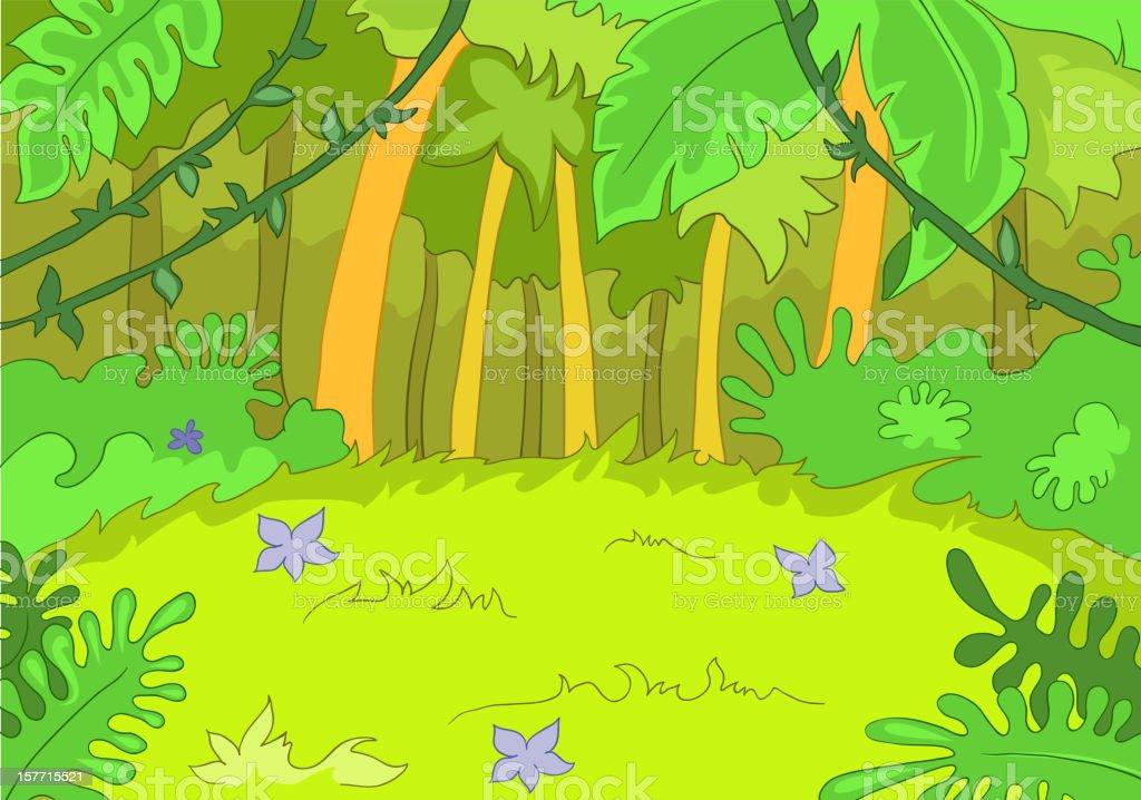 Jungley Glade royalty-free stock vector art