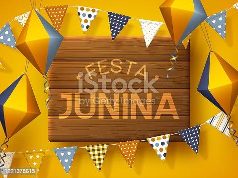 istock Junina holiday banner party. 1221378613