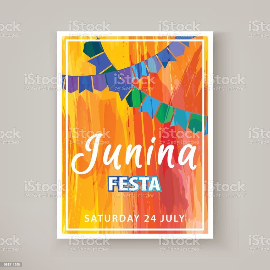 Festa Junina holiday vector art illustration