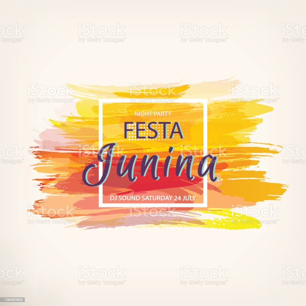 Festa Junina party vector art illustration