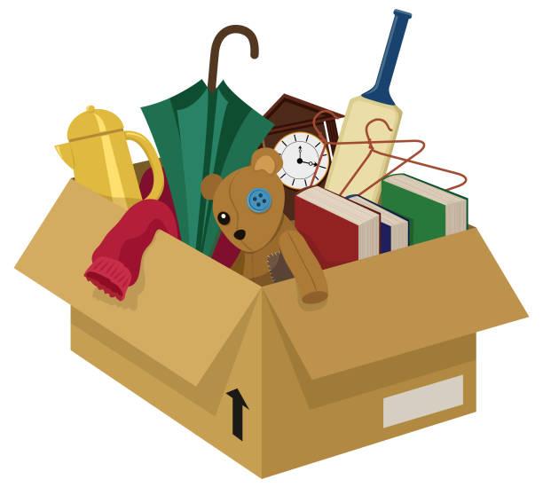 junk box - dachboden stock-grafiken, -clipart, -cartoons und -symbole