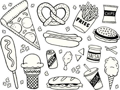 Junk Food Doodles
