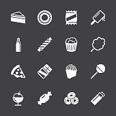 Junk Food Icons - White Series | EPS10