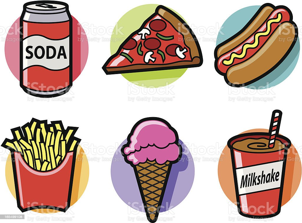 junk food stock vector art more images of blue 165499108 istock rh istockphoto com junk food clip art no junk food clipart
