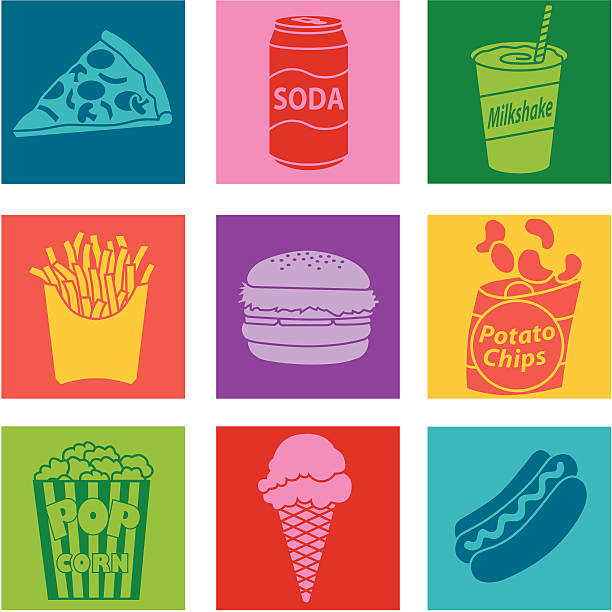 junk-food - portion stock-grafiken, -clipart, -cartoons und -symbole