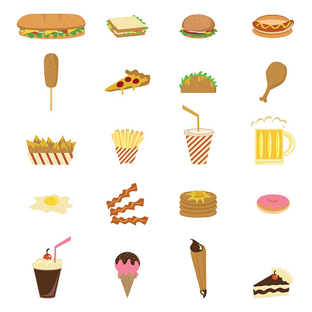 junk food - sub sandwich stock illustrations, clip art, cartoons, & icons