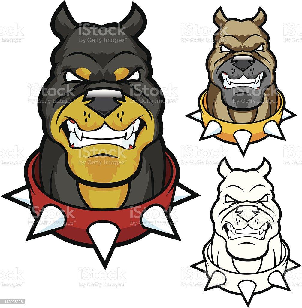 Junkyard Dog vector art illustration