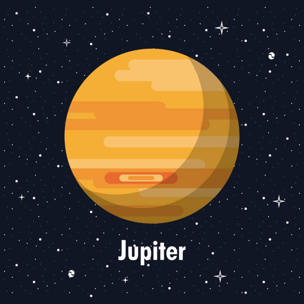 jupiter-planeten der milchstraße - milky way stock-grafiken, -clipart, -cartoons und -symbole