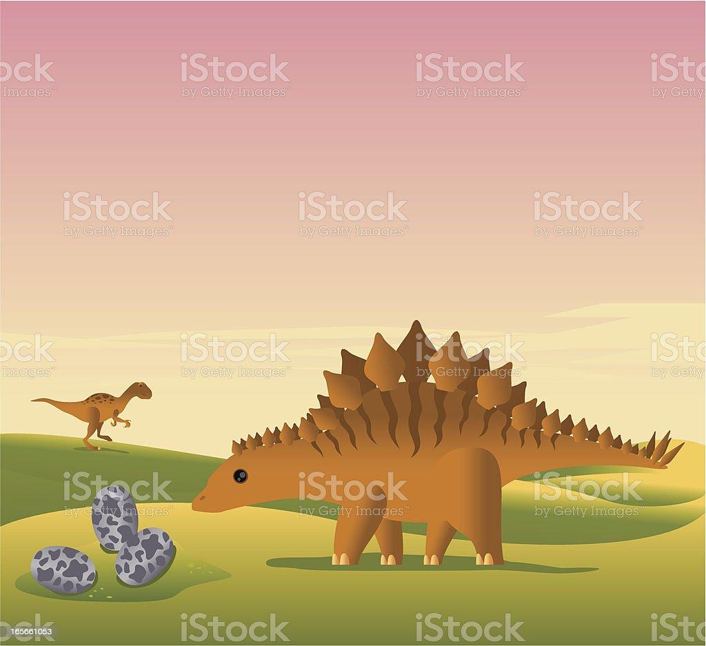 Jurassic Park vector art illustration