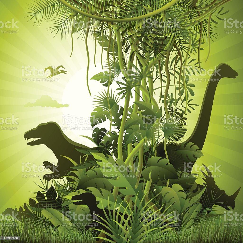 Jurassic World vector art illustration
