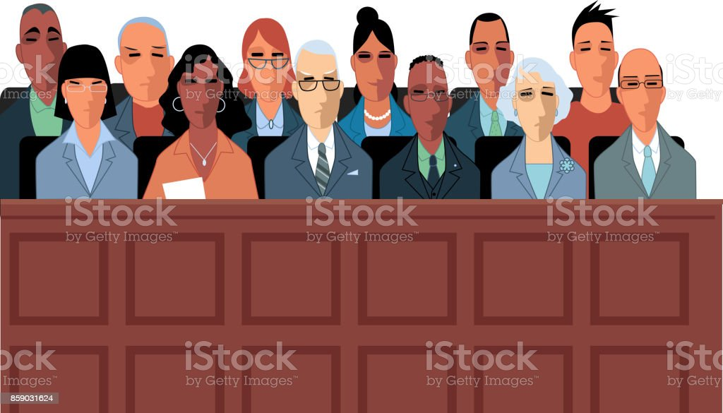 Jury vector art illustration