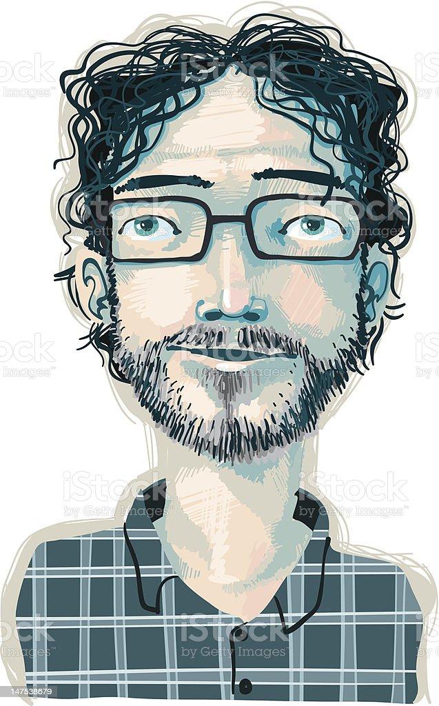 Just a guy vector art illustration