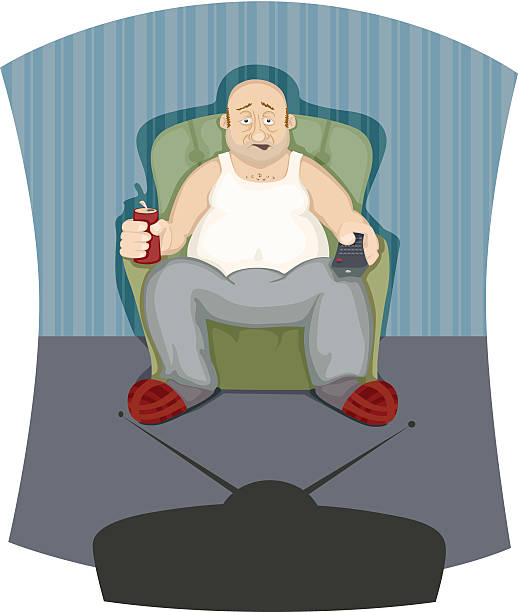 just a man - old man slippers stock illustrations, clip art, cartoons, & icons
