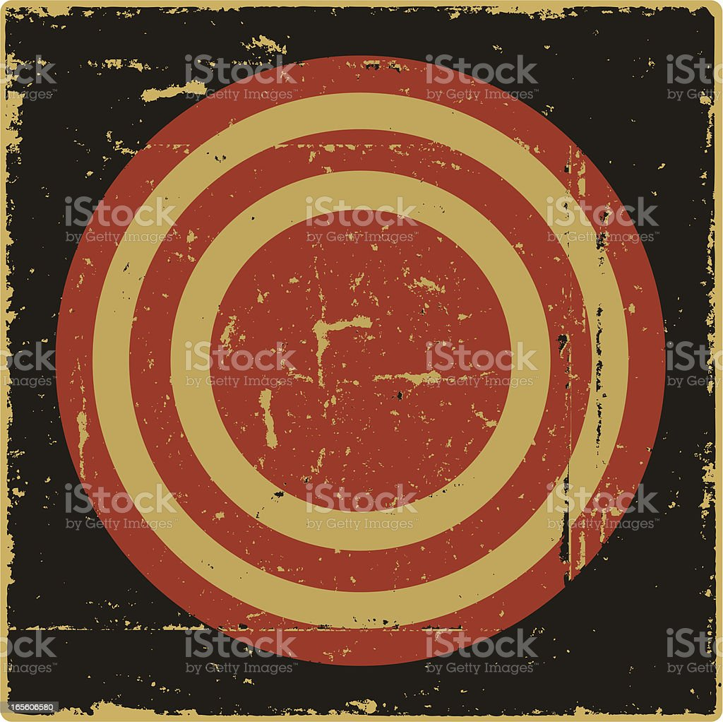 Just a Target royalty-free stock vector art