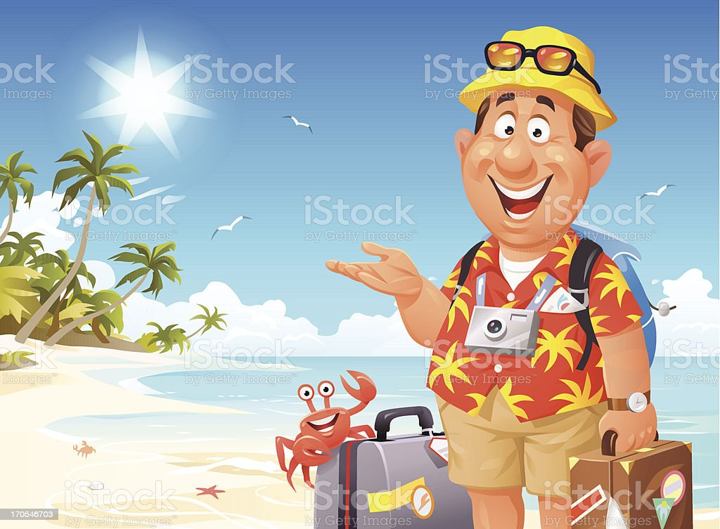 Just Arrived In Paradise royalty-free stock vector art