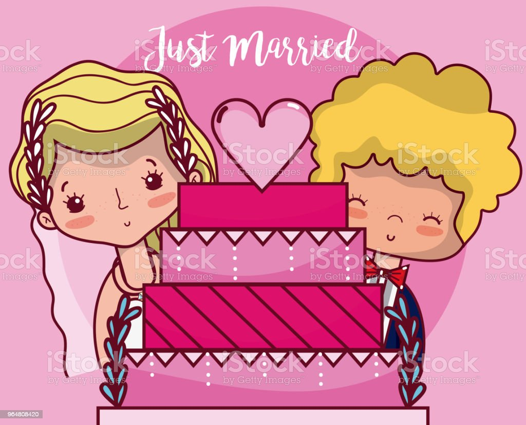 Just married card cartoon royalty-free just married card cartoon stock vector art & more images of adult