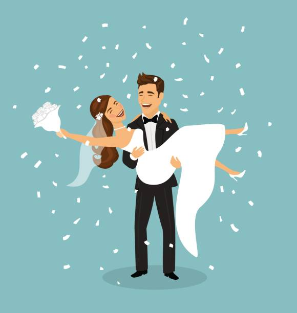 Best Groom Carrying Bride Illustrations, Royalty-Free ...