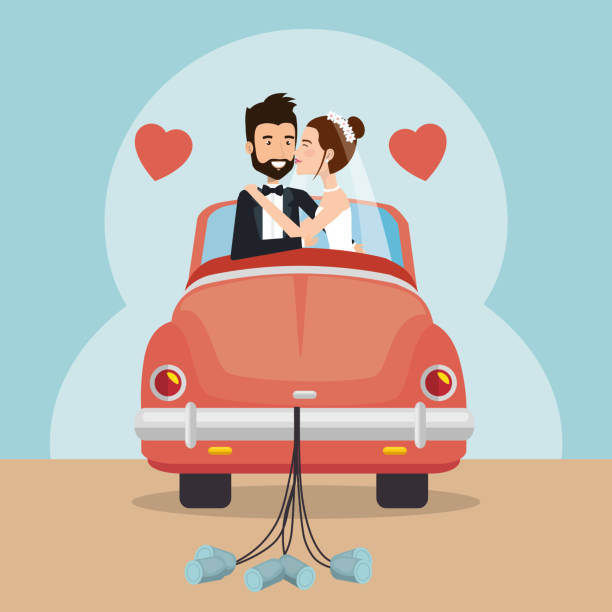 Top 60 Just Married Signs For Cars Cartoon Clip Art