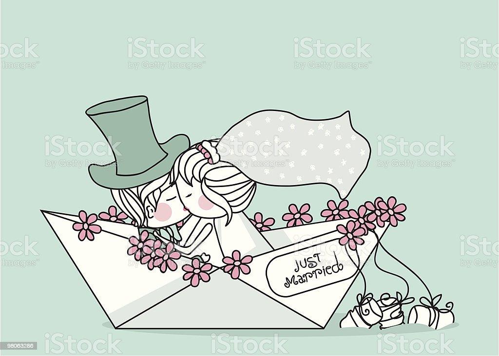 just married just married - immagini vettoriali stock e altre immagini di adulto royalty-free