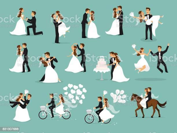 Just married newlyweds bride and groom set wedding ceremony vector id831307688?b=1&k=6&m=831307688&s=612x612&h= qth rx6z98e bogzyqt8bisqmdduzmk qxenpl8acm=