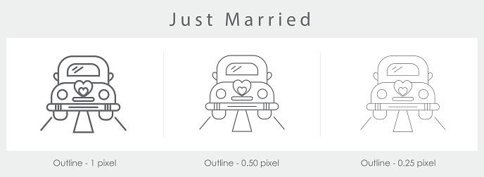 Zum ausdrucken just married hochzeitsauto Just Married