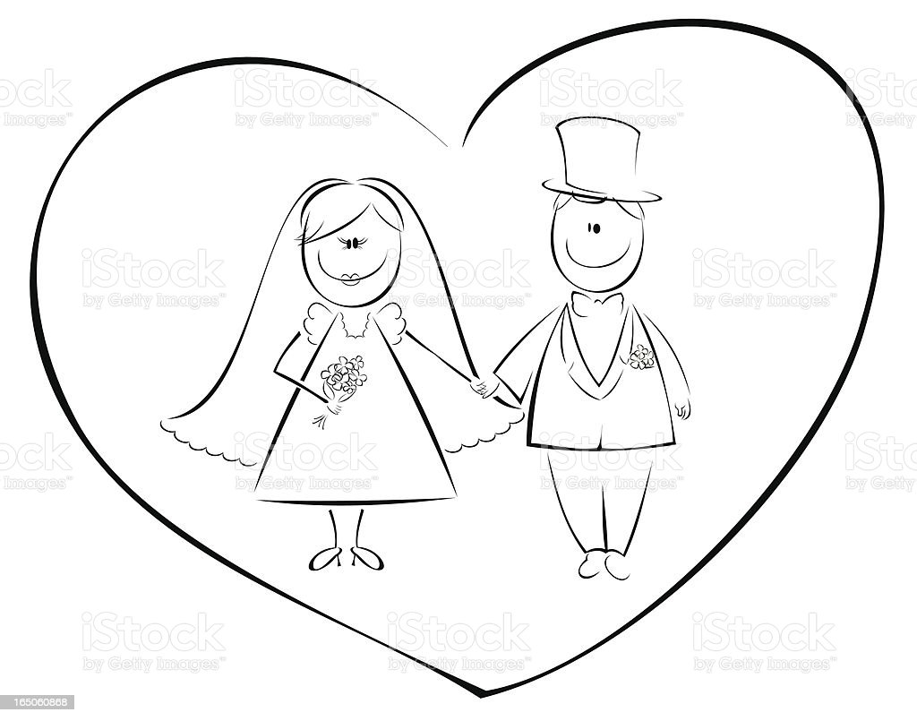 just married royalty-free stock vector art