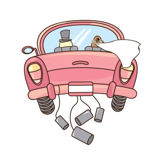 hochzeitsauto stockvektoren und grafiken  istock