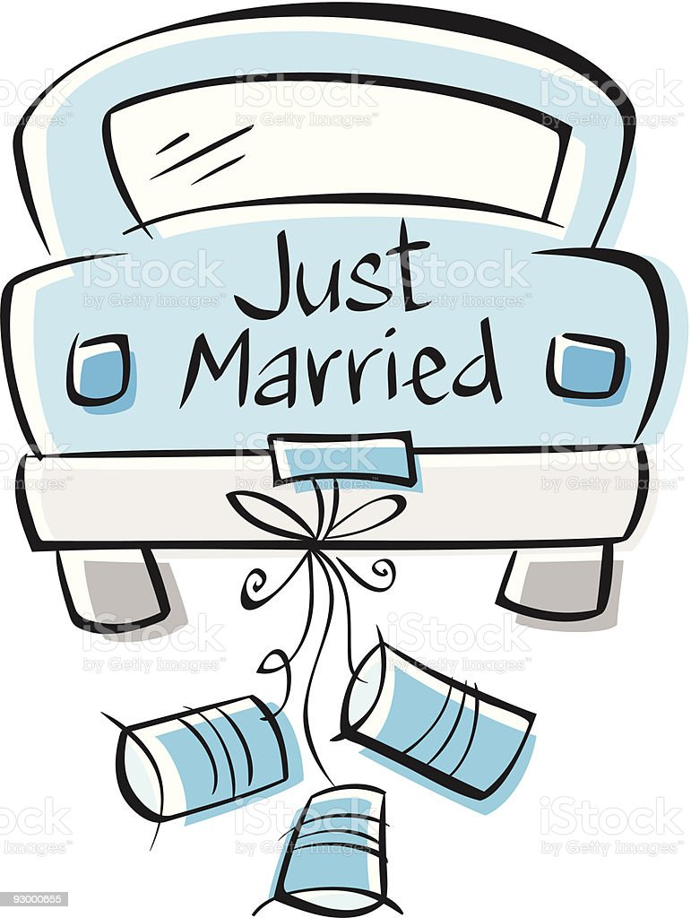 royalty free just married car clip art vector images rh istockphoto com marriage clip art christian married clipart free
