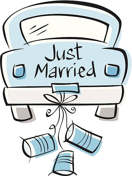 best just married car illustrations royalty free vector. Black Bedroom Furniture Sets. Home Design Ideas