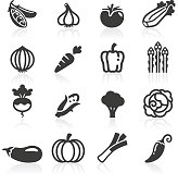 Just Veg Icons. Layered and grouped for ease of use.