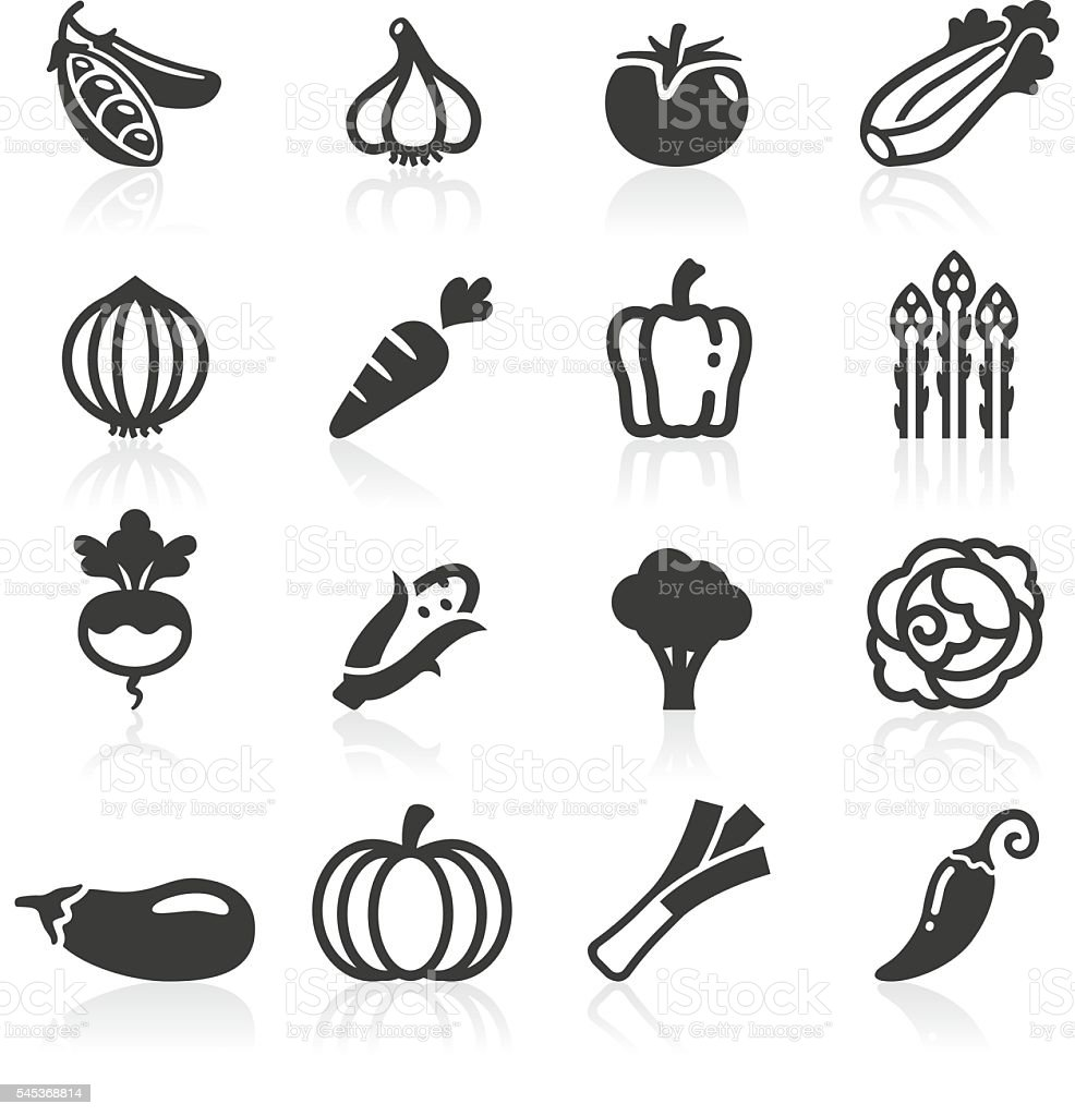 Just Vegetables Icons vector art illustration