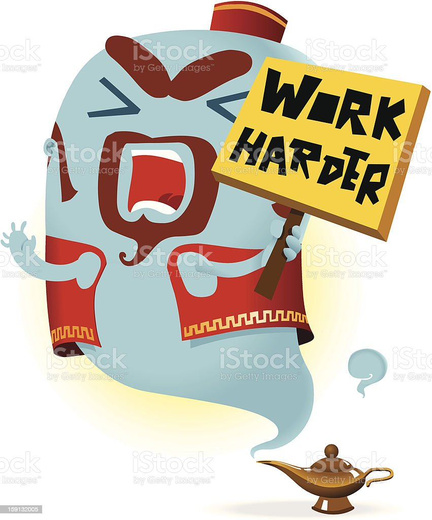 Just Work Harder royalty-free just work harder stock vector art & more images of aladdin