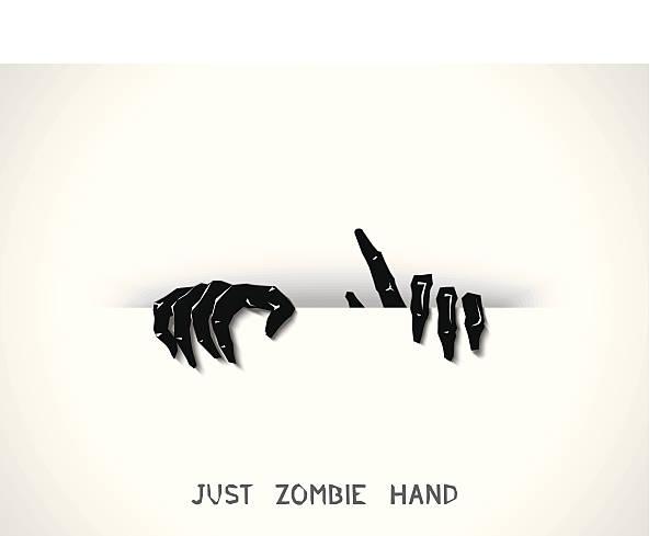bildbanksillustrationer, clip art samt tecknat material och ikoner med just zombie hands from the slit - fasa