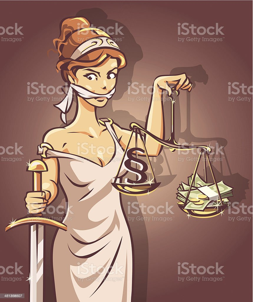 Justice and Corruption royalty-free stock vector art