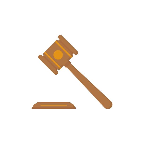 beyaz arka plan üzerinde düz adalet mahkemesi tokparal - supreme court stock illustrations