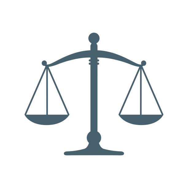 illustrations, cliparts, dessins animés et icônes de la justice plat icône isolé sur fond blanc. icône illustration vectorielle - notaire