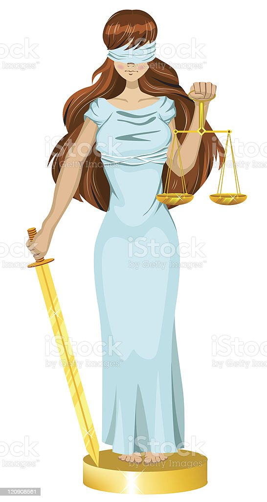 Justice girl royalty-free stock vector art