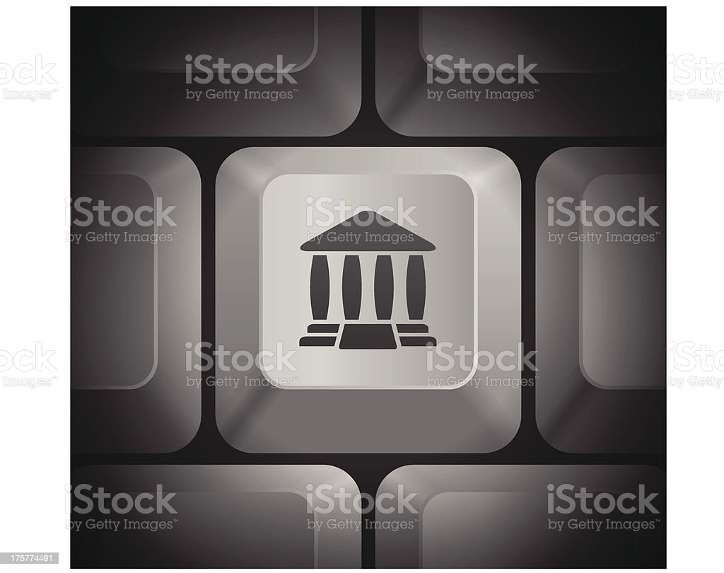 Justice Icon on Computer Keyboard royalty-free stock vector art