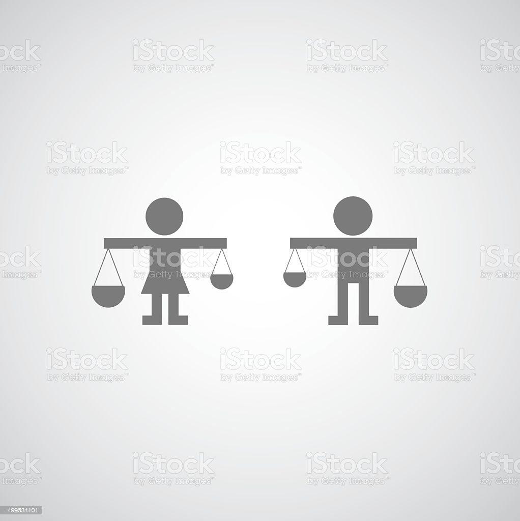 justice icon vector art illustration